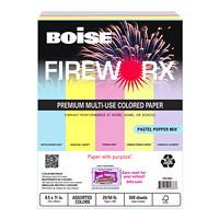 Papier aux couleurs pastel variées Fireworx Boise, Certifié FSC, 20 lb, 8 1/2 po x 11 po, rame