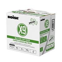 Papier à usages multiples à 3 trous dans une boîte à distribution rapide SPLOX X-9 Boise, certifié FSC, 20 lb, 8 1/2 po x 11 po, caisse