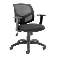 Offices To Go Bolt Mid-Back Tilter Chair, Black Fabric Seat/Mesh Back
