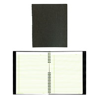 EcoLogix NotePro Coiled Notebook, 200 Pages, Black
