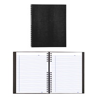 Blueline NotePro Coiled Notebook, 300 Pages, Black, 10 3/4