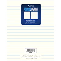 Filofax Notebook Lined Refill Paper, Cream, 7 1/4