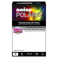 Papier couverture pour impression couleur de première qualité Polaris Boise, certifié FSC, 80lb, 11po x 17po, rame
