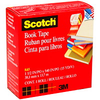 Scotch Book Repair Permanent Tape, Transparent, 1 1/2