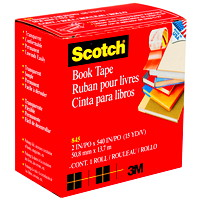 Scotch Book Repair Permanent Tape, Transparent, 2