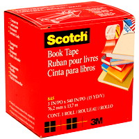 Scotch Book Repair Permanent Tape, Transparent, 3
