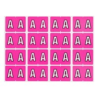 Pendaflex Colour-Coded Alphabetic Labels, Letter A, Pink, 240 Labels/PK