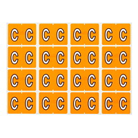 Pendaflex Colour-Coded Alphabetic Labels, Letter C, Light Orange, 240 Labels/PK