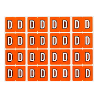 Pendaflex Colour-Coded Alphabetic Labels, Letter D, Dark Orange, 240 Labels/PK