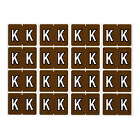 Pendaflex Colour-Coded Alphabetic Labels, Letter K, Brown, 240 Labels/PK