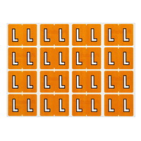 Pendaflex Colour-Coded Alphabetic Labels, Letter L, Light Brown, 240 Labels/PK