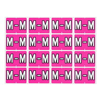 Pendaflex Colour-Coded Alphabetic Labels, Letter M, Pink, 240 Labels/PK