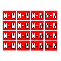 Étiquettes alphabétiques à codage couleur Pendaflex