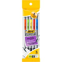 BIC XtraLife Mechanical Pencils, Black, 0.7mm, 5/Pk