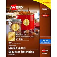 Étiquettes gaufrées 2 po Avery