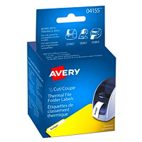 Avery 4155 Thermal File Folder Labels, White, 9/16