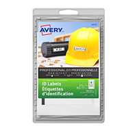 Avery Self-Laminating Writable White Professional Grade ID Labels With Border