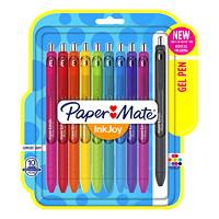 Stylos à encre gel à pointe rétractable InkJoy Paper Mate, couleurs variées, pointe moyenne de 0,7mm, emb. de 10