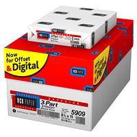 Papier autocopiant de qualité supérieure NCR, 3 copies, recto, blanc, jaune canari et rose, format lettre, caisse de 5000 feuilles