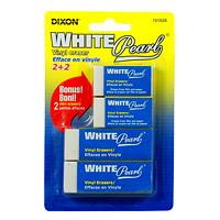 Gommes à effacer en vinyle White Pearl Dixon, emb. de 4