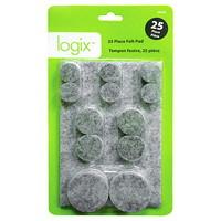 Logix Felt Pads - 25 Pack