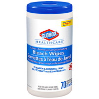 Serviettes désinfectantes germicides à l'eau de Javel pour usage professionnel Healthcare Clorox