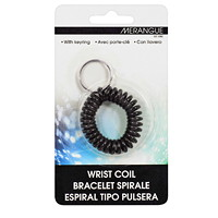 Merangue Wrist Coil Key Ring, Black