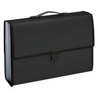 Pendaflex 13-Pocket Legal-Size Black Poly Carry Case/File Pocket
