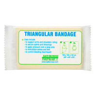SAFECROSS Triangular Bandage, Compressed, Single Pack