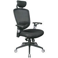 TygerClaw Air Grid High-Back Office Chair with Adjustable Headrest