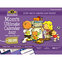 MotherWord Mom's Ultimate Deluxe 2016-2017 Large Calendar