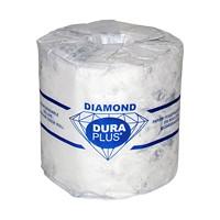 Dura Plus 1-Ply Diamond Bathroom Tissue, 1,000 Sheets/RL, 48/CT
