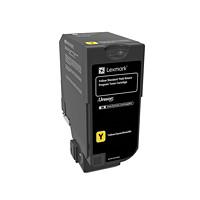 Cartouche de toner à rendement standard Lexmark CS720, CS725, CX725 Programme de retour (74C10Y0), jaune