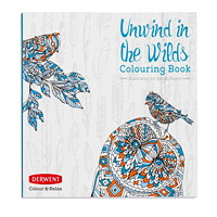 Cahier à colorier Unwind in the Wilds Colour & Relax Derwent