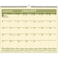 At-A-Glance Recycled 2017 Monthly Wall Calendar