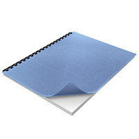 Swingline GBC Linen Weave Presentation Covers, Light Blue, 200/BX