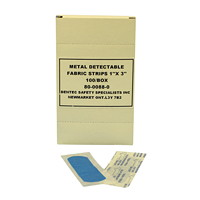 Dentec Metal Detectable Bandages - Blue Fabric Strips