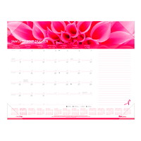Blueline Pink Ribbon Monthly Desk Pad