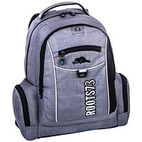 "Roots 73 18"" Grey Backpack With Reflective Piping - Ontario Residents Only"