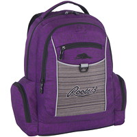 "Roots 73 18"" Purple & Grey Backpack With Reflective Piping - Ontario Residents Only"