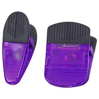 Merangue Heavy-Duty Magnetic Clips, Purple, 2/PK