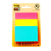 Post-it Super Sticky Notes Combo Pack in Miami Colour Collection, Unlined, Assorted Sizes, 45 Sheets/Pad, 3 Pads/PK