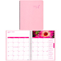 Blueline Pink Ribbon Monthly Planner