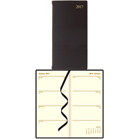 Letts of London Bonded Leather Slim Weekly Upright Planner