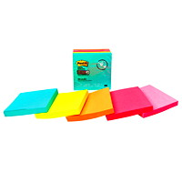 Post-it Super Sticky Notes in Miami Colour Collection, Unlined, 3