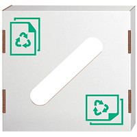 Bankers Box Lid for Waste and Recycling Bin, Paper, 10/CT