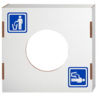 Bankers Box Lid for Waste and Recycling Bin, Waste, 10/CT