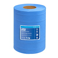 Tork 4-Ply Industrial Centerfeed Paper Wipers, Blue, 190 Sheets/RL, 4/CT