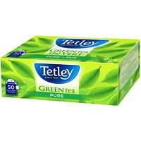 Thé vert pur Tetley, boîte de 50