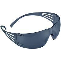 3M SecureFit Protective Eyewear, Grey Anti-Fog Lens, Frameless with Grey Temple